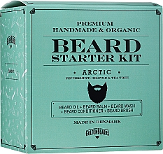 Düfte, Parfümerie und Kosmetik Bartpflegeset - Golden Beards Starter Beard Kit Arctic (Bartbalsam 60ml + Bartöl 30ml + Bartshampoo 100ml + Bartconditioner 100ml + Bartbürste)