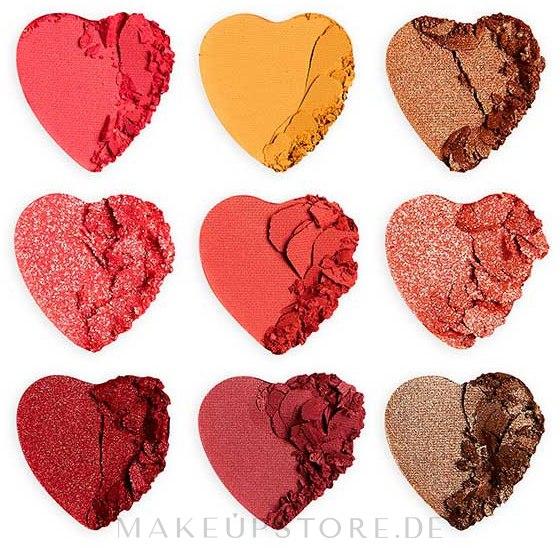 Lidschattenpalette - I Heart Revolution Heart Breakers Eyeshadow Palette — Bild Courage