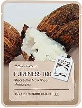Düfte, Parfümerie und Kosmetik Feuchtigkeitsspendende Tuchmaske mit Sheabutter - Tony Moly Pureness 100 Shea Butter Mask Sheet