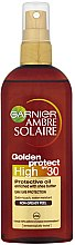 Düfte, Parfümerie und Kosmetik Schützendes Ölspray mit Sheabutter SPF 30 - Garnier Ambre Solaire Golden Protect SPF30 Oil