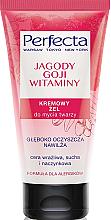 Düfte, Parfümerie und Kosmetik Reinigendes Creme-Gel mit Goji Beeren und Vitaminen - Perfecta