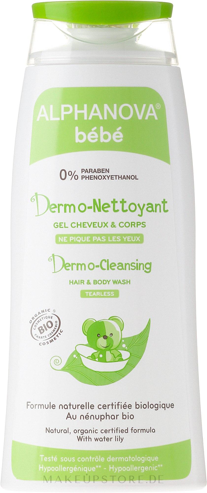 Hypoallergenes Waschgel für Haar und Körper - Alphanova Bebe Dermo-cleansing Hair & Body Wash — Bild 30 ml