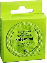 Düfte, Parfümerie und Kosmetik Erfrischende Gesichtsmaske mit Bambusextrakt - Le Cafe de Beaute Cafe Mimi Refreshing Facial Express-Mask
