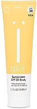 Düfte, Parfümerie und Kosmetik Sonnenschutzcreme für den Körper SPF 30 - Naif Sunscreen Body Spf30