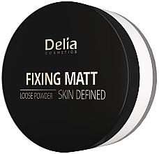 Düfte, Parfümerie und Kosmetik Loser mattierender Gesichtspuder - Delia Fixing Matt Skin Defined Loose Powder