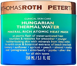 Düfte, Parfümerie und Kosmetik Wärmende und feuchtigkeitsspendende Anti-Falten Gesichtsmaske mit ungarischem Thermalwasser - Peter Thomas Roth Hungarian Thermal Water Mineral-Rich Atomic Heat Mask