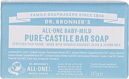 Düfte, Parfümerie und Kosmetik Milde Babyseife mit Kokosnuss-, Oliven- und Jojobaöl - Dr. Bronner's Pure Castile Bar Soap Baby-Mild