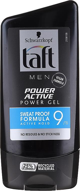 Modellierendes Haargel für Männer Starker Halt - Schwarzkopf Taft Looks Power Active Gel — Bild N1