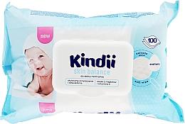 Düfte, Parfümerie und Kosmetik Feuchttücher für Kinder 100 St. - Kindii Skin Balance