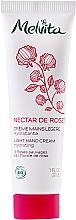 Düfte, Parfümerie und Kosmetik Leichte Handcreme mit 3 Wildrosensorten und Rosenblütenwasser - Melvita Nectar De Rose Light Hand Cream