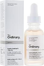 Düfte, Parfümerie und Kosmetik Gesichtspeeling mit Milch- und Hyaluronsäure - The Ordinary Lactic Acid 10% + HA 2%