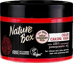 Düfte, Parfümerie und Kosmetik Schützende Haarmaske für gefärbtes Haar mit Granatapfelöl - Nature Box Pomegranate Oil Maska