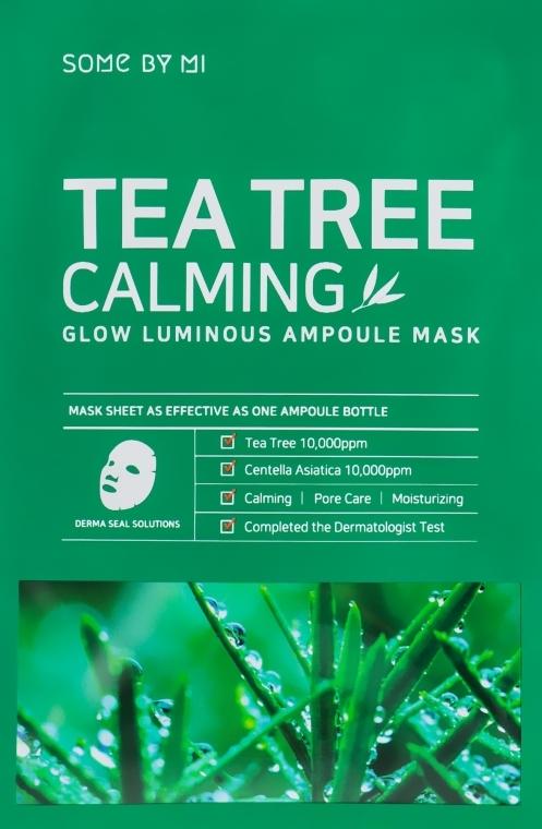 Beruhigende Tuchmaske für das Gesicht mit Wassernabel- und Teebaumextrakt - Some By Mi Tea Tree Calming Glow Luminous Ampoule Mask — Bild N1