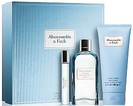 Düfte, Parfümerie und Kosmetik Duftset - Abercrombie & Fitch First Instinct Blue Women (Eau de Parfum 100ml+Körperlotion 100ml+Eau de Parfum 15ml)
