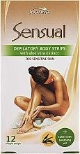 Düfte, Parfümerie und Kosmetik Enthaarungswachsstreifen für den Körper mit Aloeextrakt - Joanna Sensual Dipilatory Body Strips
