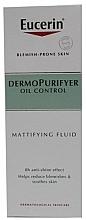 Düfte, Parfümerie und Kosmetik Mattierendes Gesichtsfluid gegen Hautunreinheiten und überschüssiges Talg - Eucerin Dermo Purifyer Oil Control Mattifying Fluid