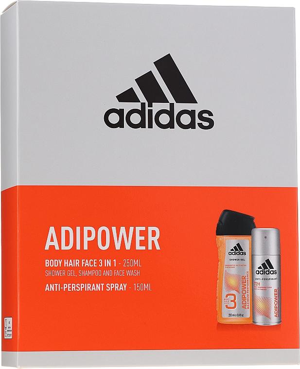 Körperpflegeset - Adidas Adipower Men (Antiperspirant Deospray 150ml + Duschgel 250ml) — Bild N1
