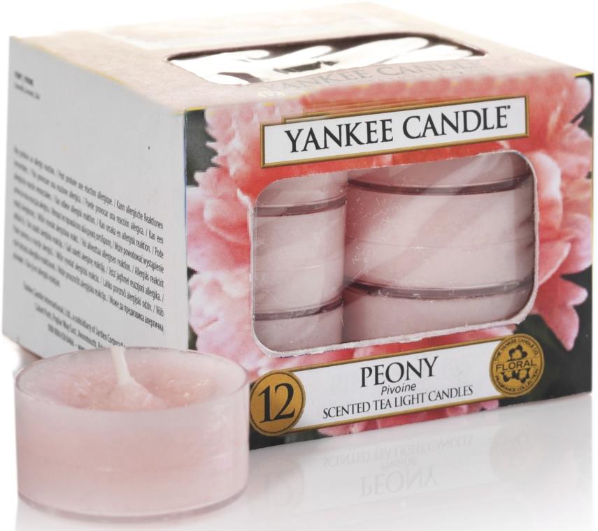 Teelichter Peony - Yankee Candle Scented Tea Light Candles Peony — Bild N1
