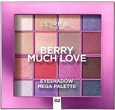 Düfte, Parfümerie und Kosmetik Lidschattenpalette - L'Oreal Paris Berry Much Love Eyeshadow Mega Palette