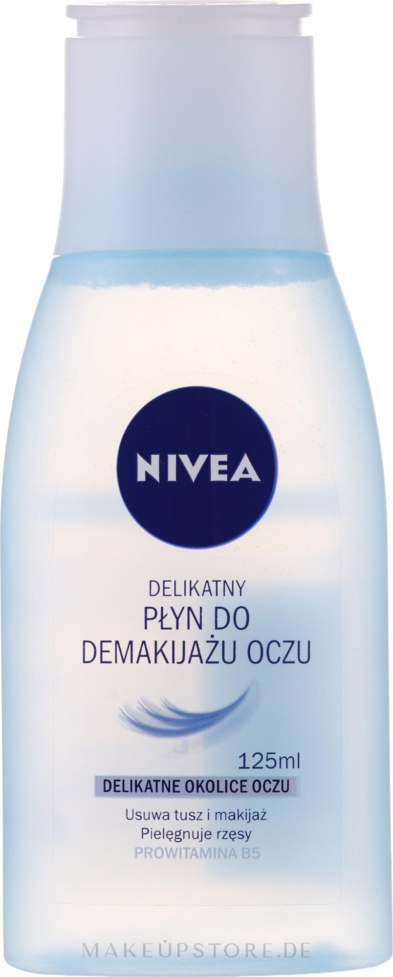 Sanfter Augen Make-Up Entferner - Nivea Visage Eye Makeup Remover Lotion — Bild 125 ml