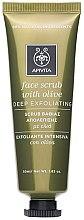 Düfte, Parfümerie und Kosmetik Beruhigendes Gesichtspeeling mit Oliven - Apivita Face Scrub With Olive