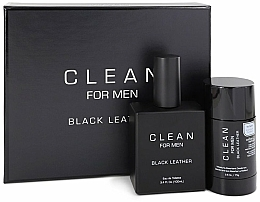 Düfte, Parfümerie und Kosmetik Duftset - Clean Black Leather Men (Eau de Toilette 100ml + Deodorant 75ml)