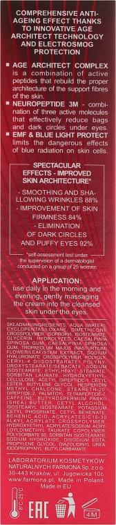 Anti-Falten Tages-und Nachtcreme gegen dunkle Augenringe und Schwellungen 50+/60+ - Farmona Radical Age Architect Anti Wrinkle Eye Cream 60+ — Bild N3