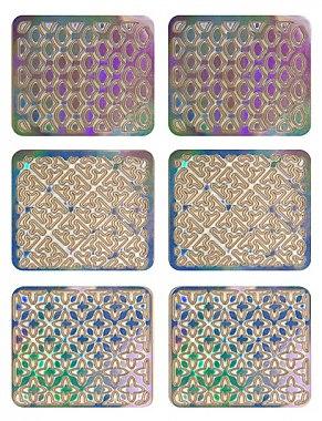 Nagelsticker 3706 - Neess Patternness — Bild N1