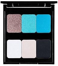 Düfte, Parfümerie und Kosmetik Lidschattenpalette mit 6 Farben - Pierre Rene Palette Match System Eyeshadow Azure Beach