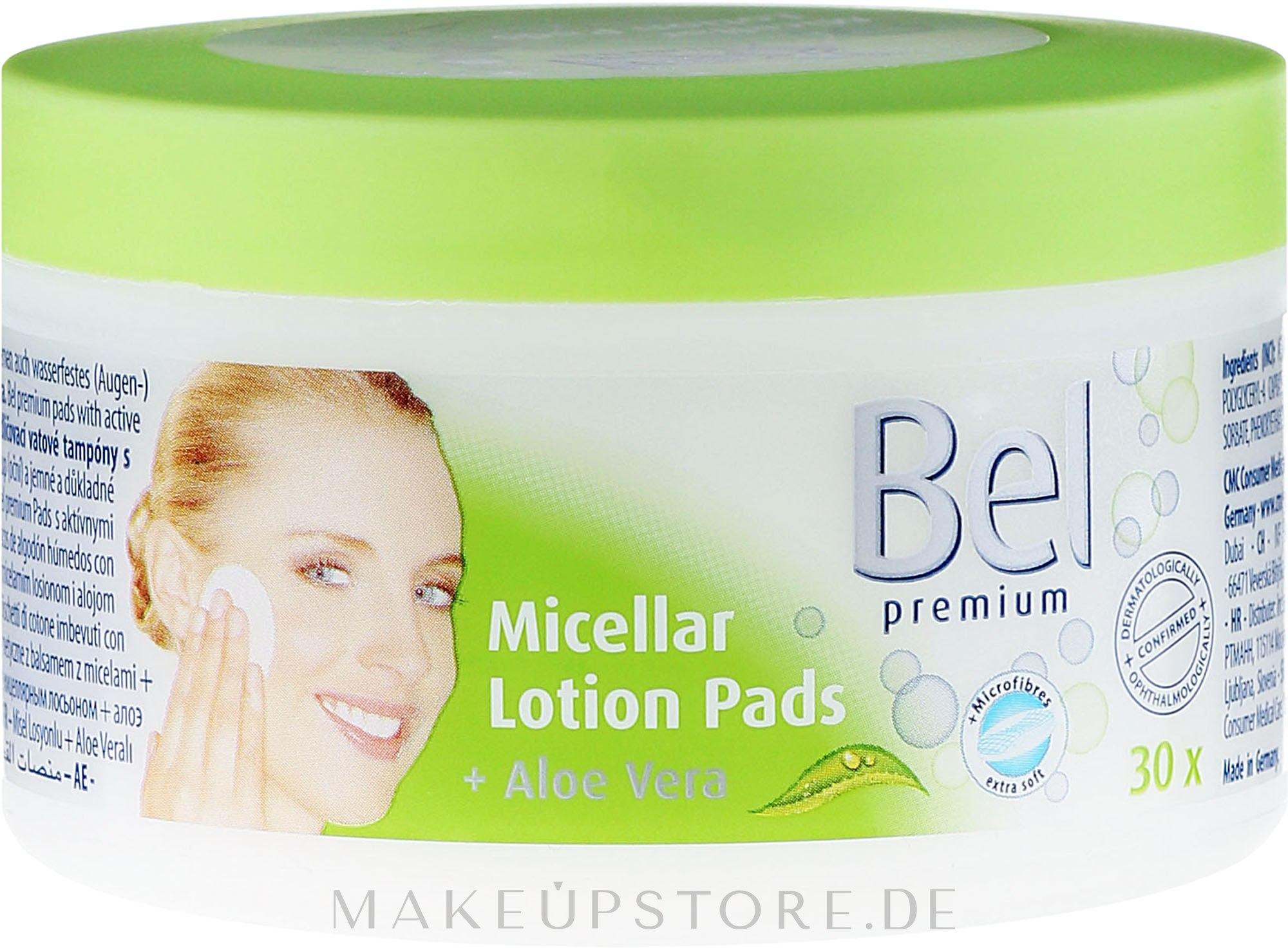Feuchte Lotion Pads mit Aloe Vera zur Gesichchtsreinigung und Make-up - Bel Premium Lotion Pads with Aloe Vera — Bild 30 St..