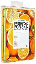 Düfte, Parfümerie und Kosmetik Gesichtspflegeset - Superfood For Skin Facial Sheet Mask Refreshing Set (Tuchmasken für das Gesicht 5x25ml)