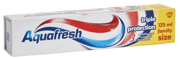 Zahnpasta für gesundes Zahnfleisch, starke Zähne und frischen Atem - Aquafresh Triple Protection Toothpaste — Bild N1