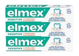Düfte, Parfümerie und Kosmetik Zahnpasta Duo-Pack - Elmex Sensitive Toothpaste (Zahnpasta 3x75ml)