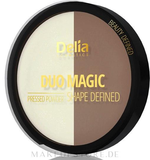 Gepresster Puder - Delia Duo Magic Shape Defined — Bild 102 - Dark Glam