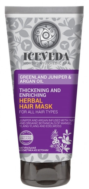 Haarmaske - Natura Siberica Iceveda Greenland Juniper&Argan Oil Thickening and Enriching Herbal Hair Mask — Bild N1