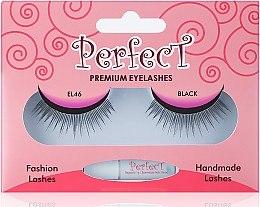 Düfte, Parfümerie und Kosmetik Künstliches Wmpern-Set mit Wmpernkleber EL 46 schwarz - Aden Cosmetics Fashion Lashes