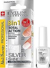 Düfte, Parfümerie und Kosmetik Nagelconditioner mit Silberpartikeln 8in1 - Eveline Cosmetics 8in1 Silver Shine Nail Therapy