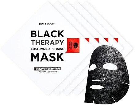 Tuchmaske gegen große Poren und fettige Haut mit Lotus, Camu-Camu und Glutathion - Duft & Doft Black Therapy Customized Refining Mask — Bild N2