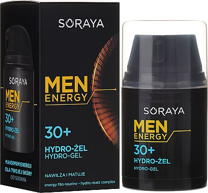 Feuchtigkeitsspendendes und mattierendes Gesichtsgel 30+ - Soraya Men Energy — Bild N4