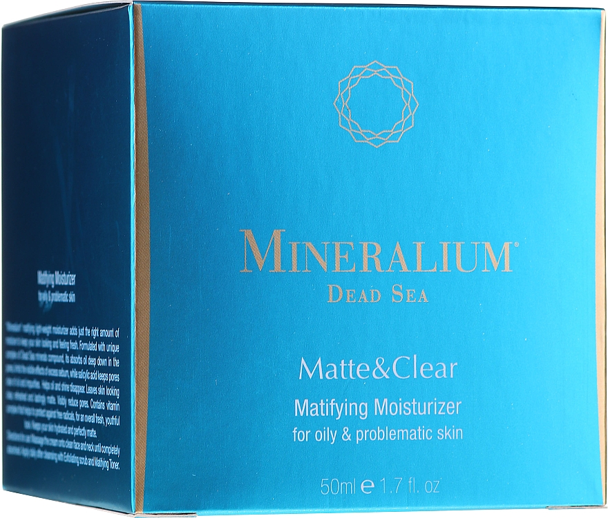 Mattierende und feuchtigkeitsspendende Gesichtscreme für fettige und delikate Haut - Mineralium Dead Sea Matte & Clear — Bild N1