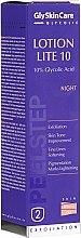 Düfte, Parfümerie und Kosmetik Zellerneuerndes Gesichtsemulsion-Peeling für die Nacht mit 10% Glykolsäure - GlySkinCare Lotion Lite 10