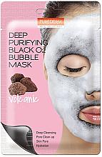 Düfte, Parfümerie und Kosmetik Tiefenreinigende Schaummaske für Gesicht mit Vulkanasche - Purederm Deep Purifying Black O2 Bubble Mask Volcanic