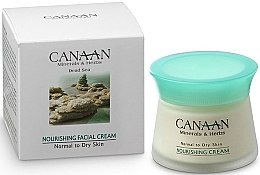 Düfte, Parfümerie und Kosmetik Pflegende Gesichtscreme für normale und trockene Haut mit Mineralien und Kräutern aus dem Toten Meer - Canaan Minerals & Herbs Nourishing Facial Cream Normal to Dry Skin