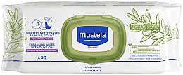 Pflegetücher mit Olivenöl 50 St. - Mustela Cleansing Wipes With Olive Oil — Bild N1