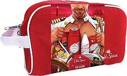Düfte, Parfümerie und Kosmetik Duftset - Old Spice Original Travel Bag (Duschgel 50ml + After Shave Lotion 100ml + Deo Roll-on 50ml + Duschgel 250ml + Kosmetiktasche)