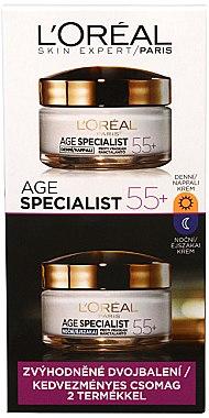 Set - L'Oreal Paris Age Expert 55+ (cr/50ml + cr/50ml) — Bild N1