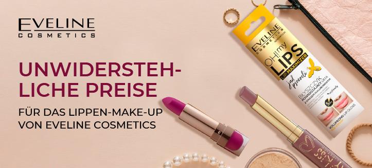 Rabatte auf das Aktionssortiment von Eveline Cosmetics. Die Preise auf der Website sind inklusive Rabatt