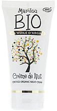 Düfte, Parfümerie und Kosmetik Pflegende und feuchtigkeitsspendende Bio Nachtcreme mit Arganöl - Marilou Bio Creme de Nuit Anti-Age