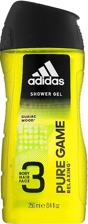 Duschgel für Männer - Adidas Pure Game Hair & Body Shower Gel — Bild N1