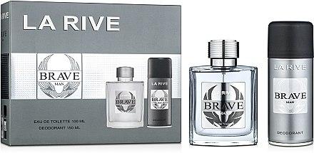 La Rive Brave Man - Duftset (Eau de Toilette/100ml + Deodorant/150ml) — Bild N1